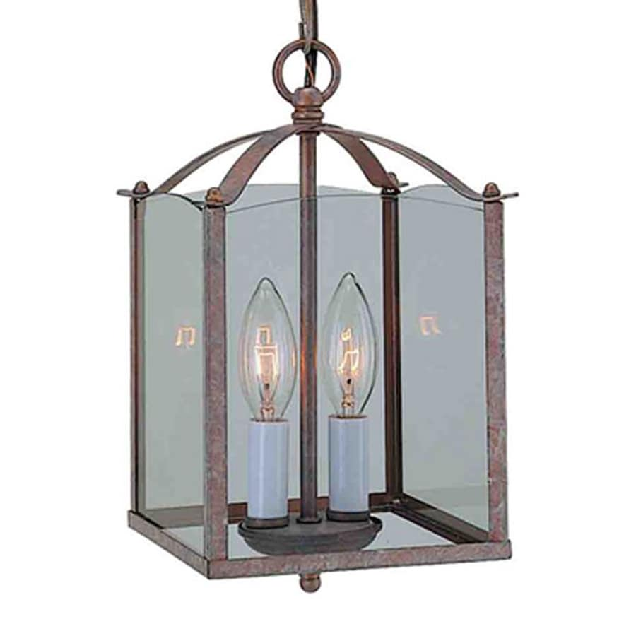 Volume International 9.25-in Prairie Rock Vintage Mini Clear Glass Lantern Pendant