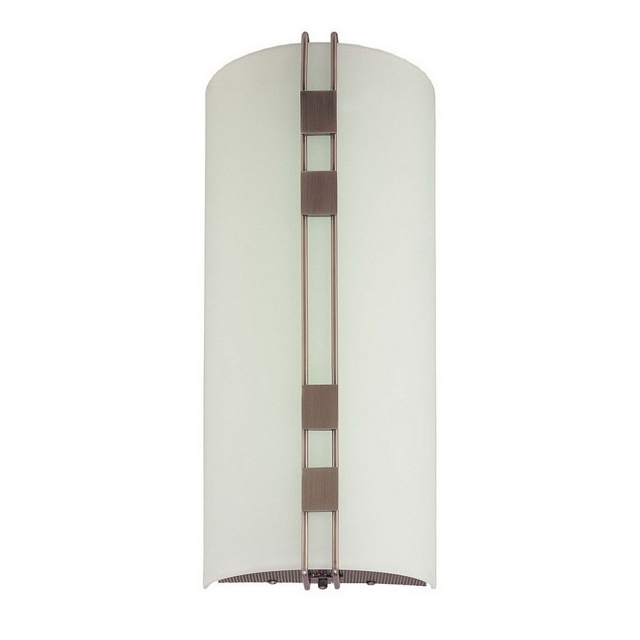 Volume International 7.5-in W 3-Light Black-Brushed Nickel Pocket Hardwired Wall Sconce