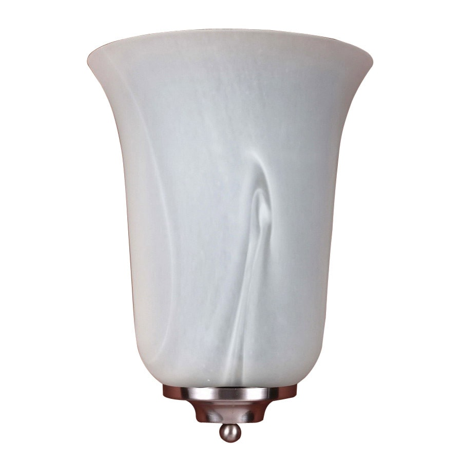 Volume International 8-in W 1-Light Brushed Nickel Pocket Wall Sconce