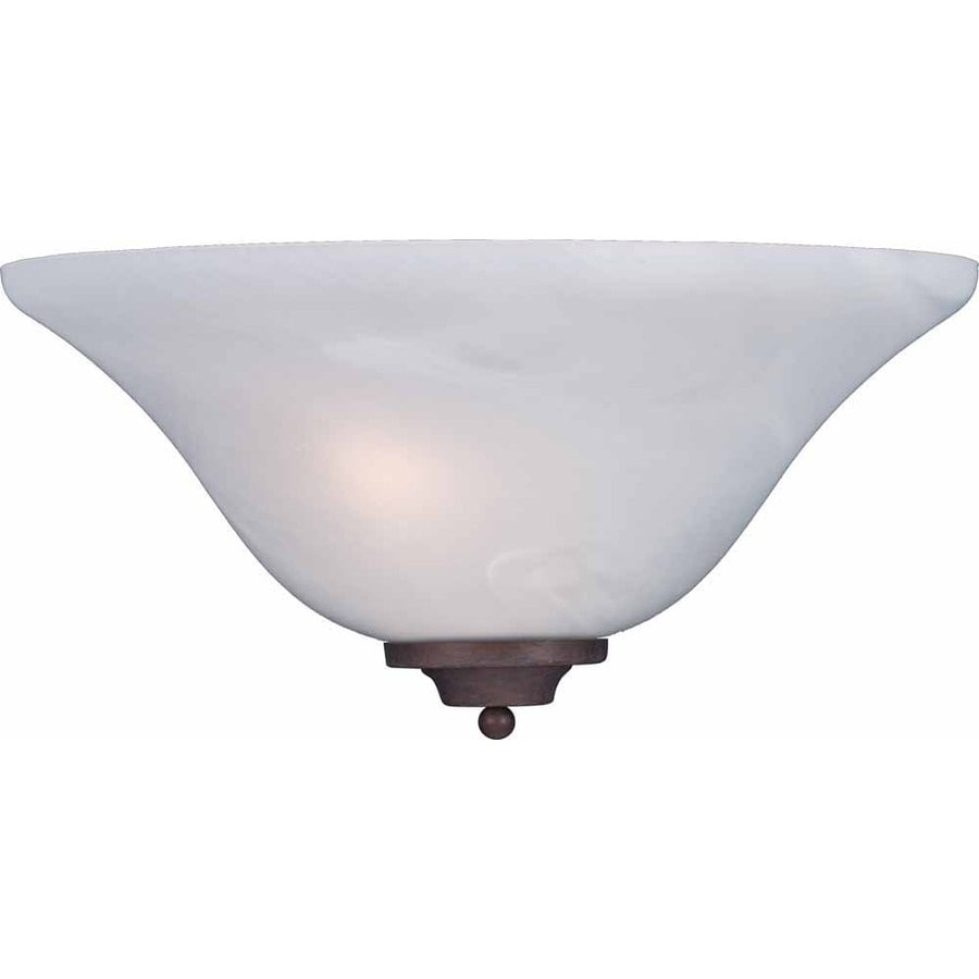 Volume International 13.5-in W 1-Light Prairie Rock Arm Hardwired Wall Sconce