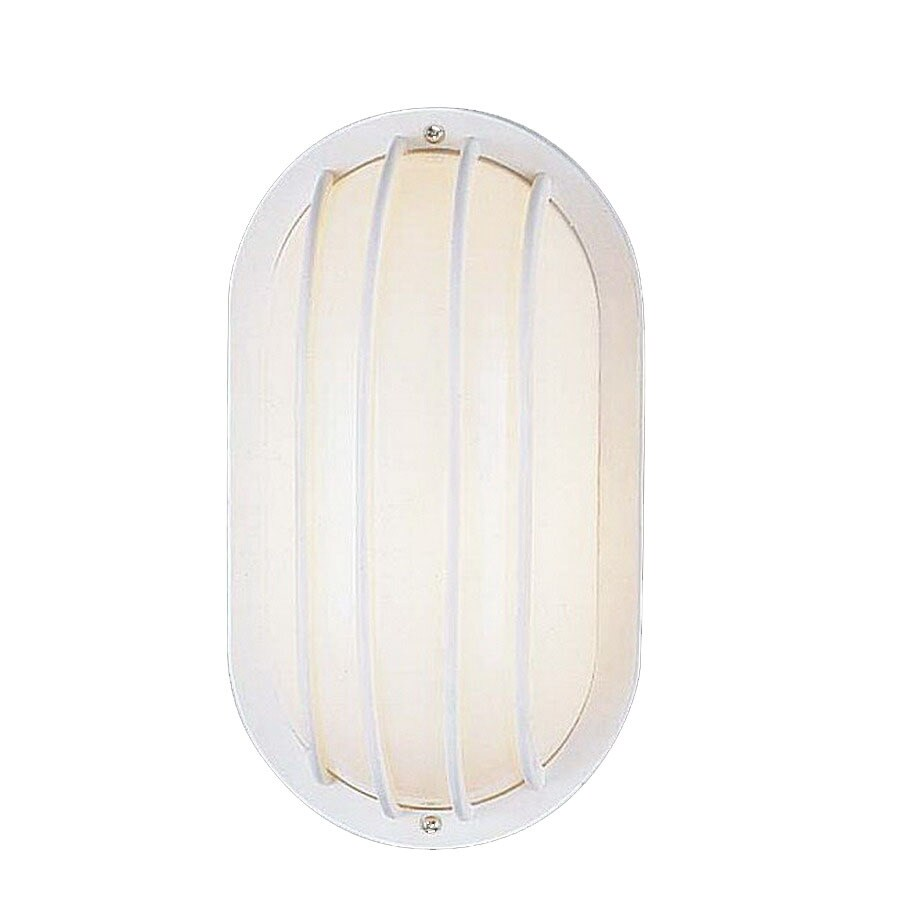 Volume International 10-1/2-in White Outdoor Wall Light