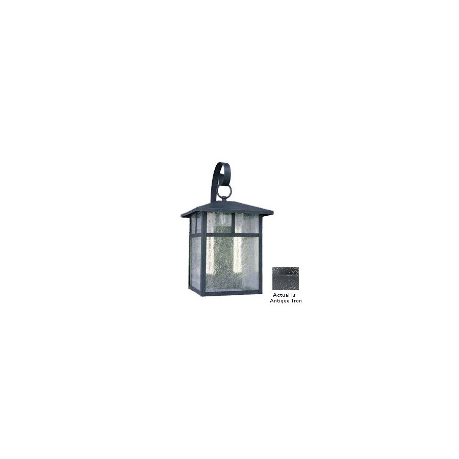 Volume International 9-1/2-in Antique Iron Outdoor Wall Light
