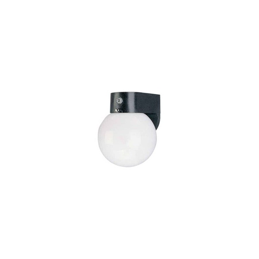 Volume International 7-1/4-in Black Outdoor Wall Light