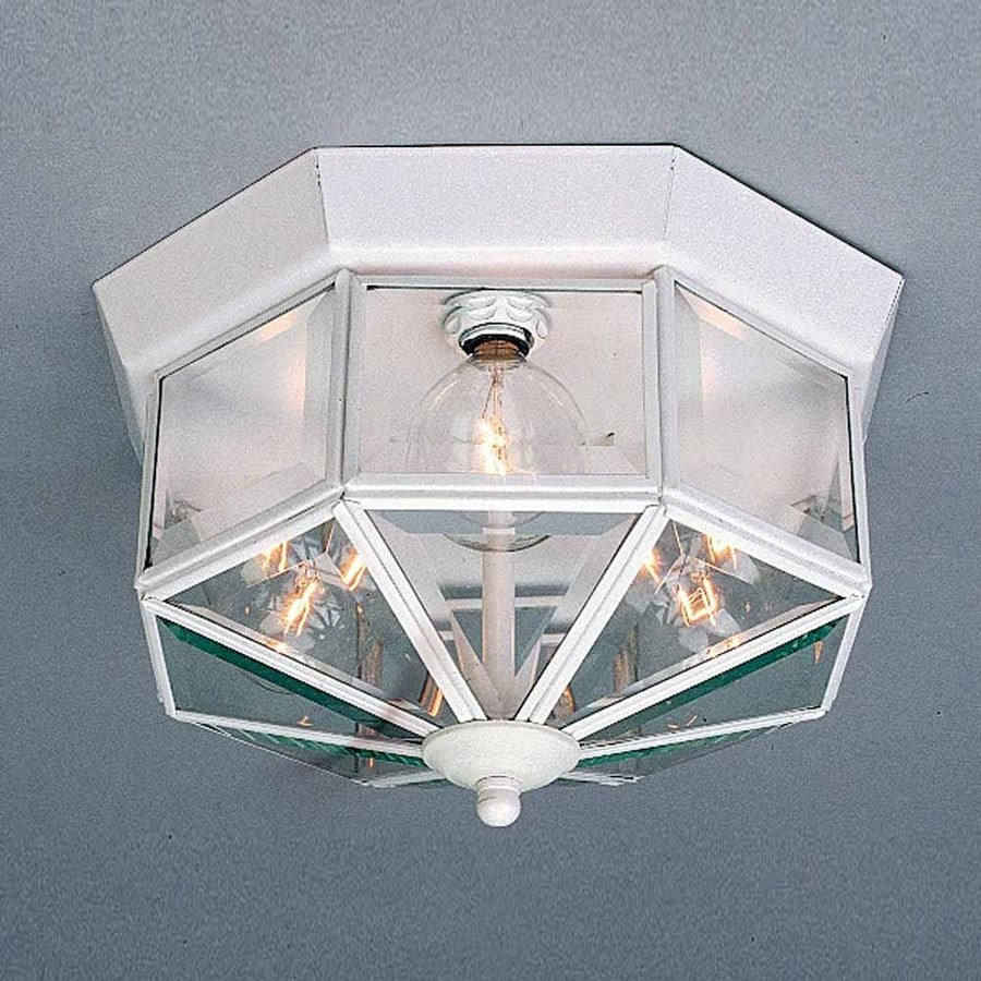 Volume International 11.5-in W White Flush Mount Light