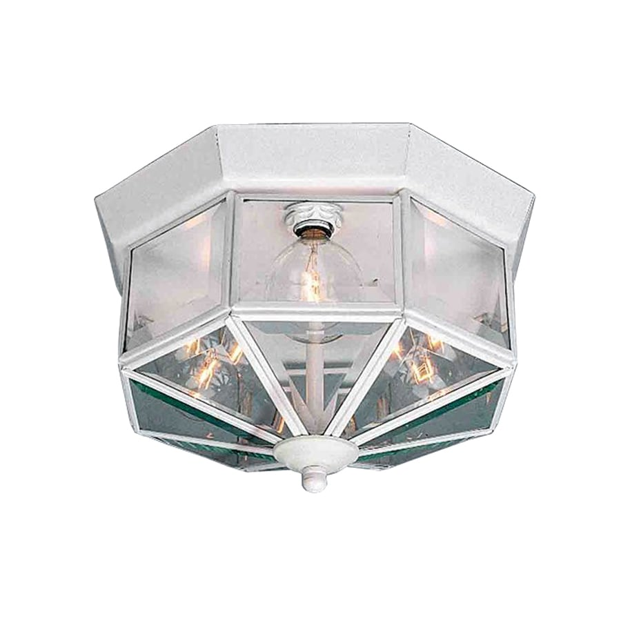 Volume International 10.5-in W White Flush Mount Light