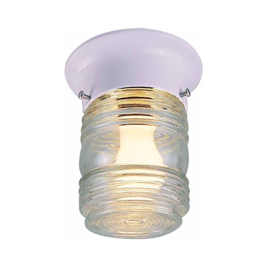 Volume International 5-in W White Ceiling Flush Mount Light