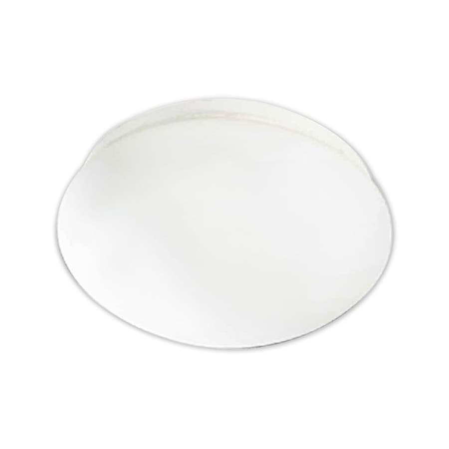 Volume International 12.5-in W White Flush Mount Light