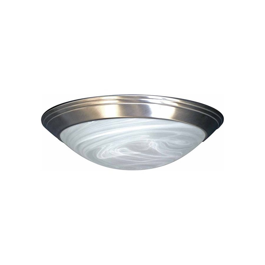 Volume International 12-in W Brushed Nickel Ceiling Flush Mount Light