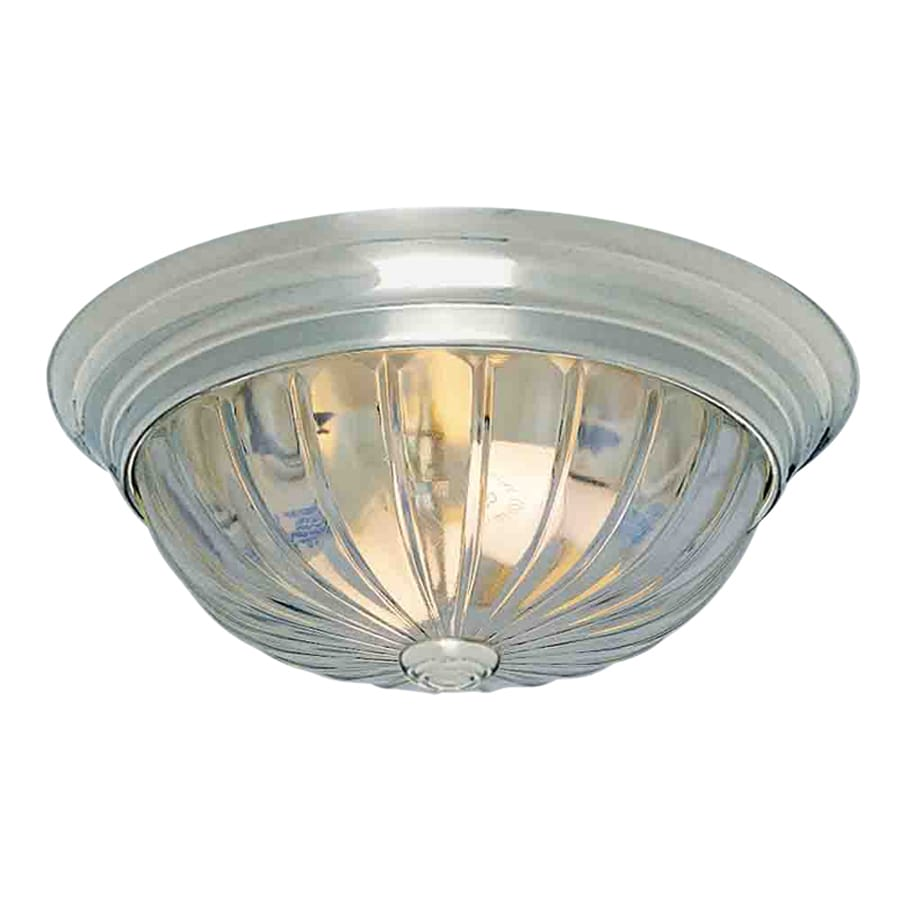 Volume International 11-in W Brushed nickel Flush Mount Light