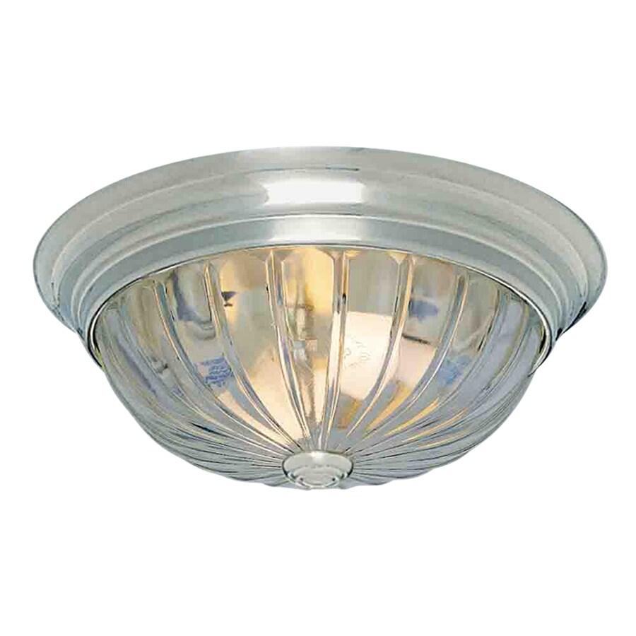 Volume International 11-in W Brushed Nickel Ceiling Flush Mount Light