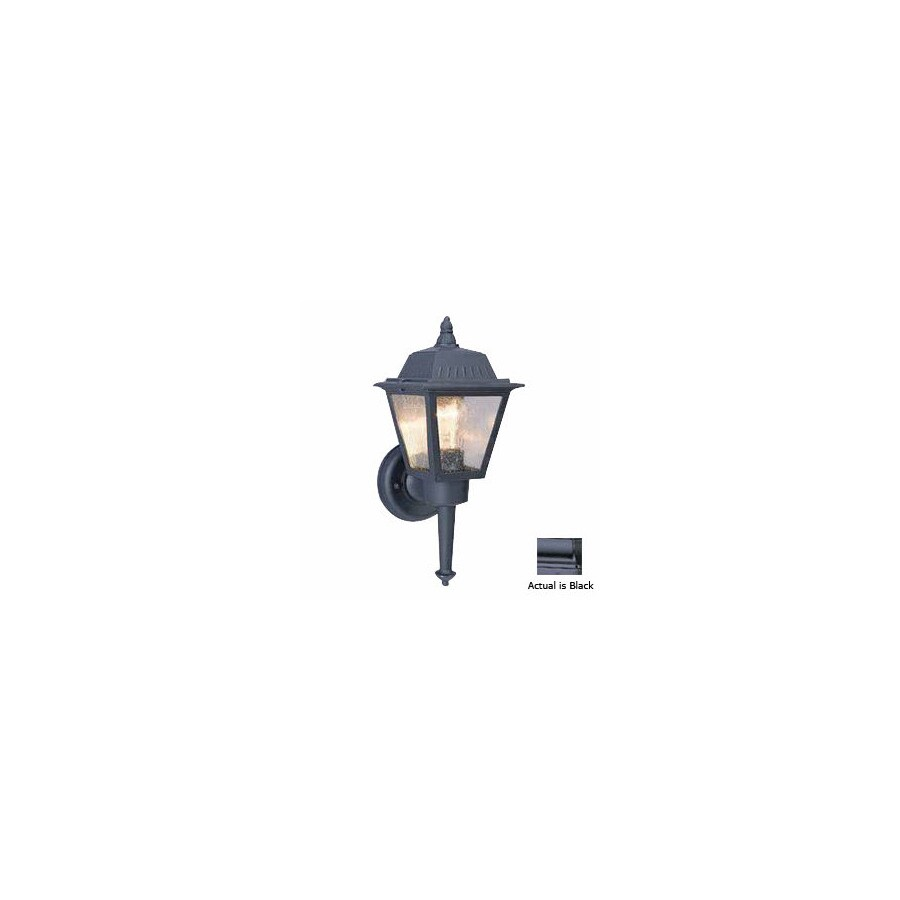Volume International 13-3/4-in Black Outdoor Wall Light