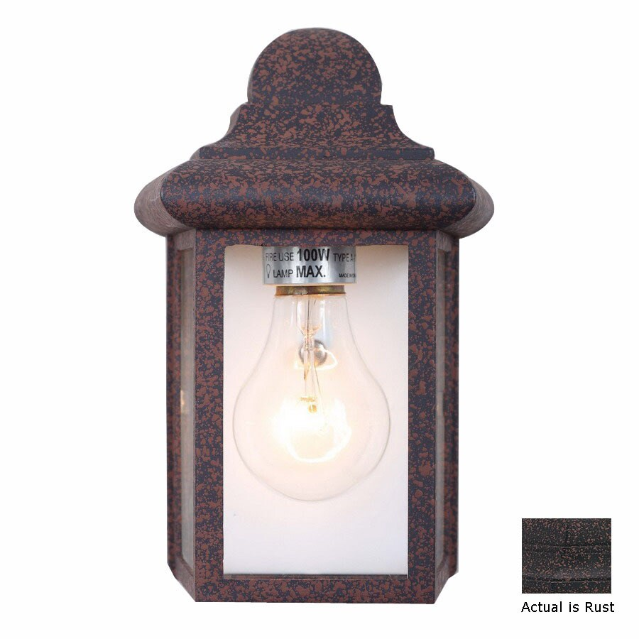 Volume International 8-3/4-in Rust Outdoor Wall Light