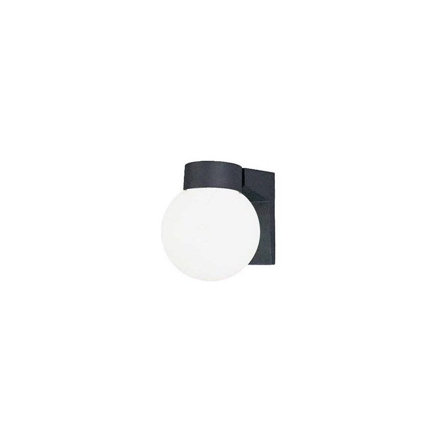 Volume International Globe 7-in Black Outdoor Wall Light