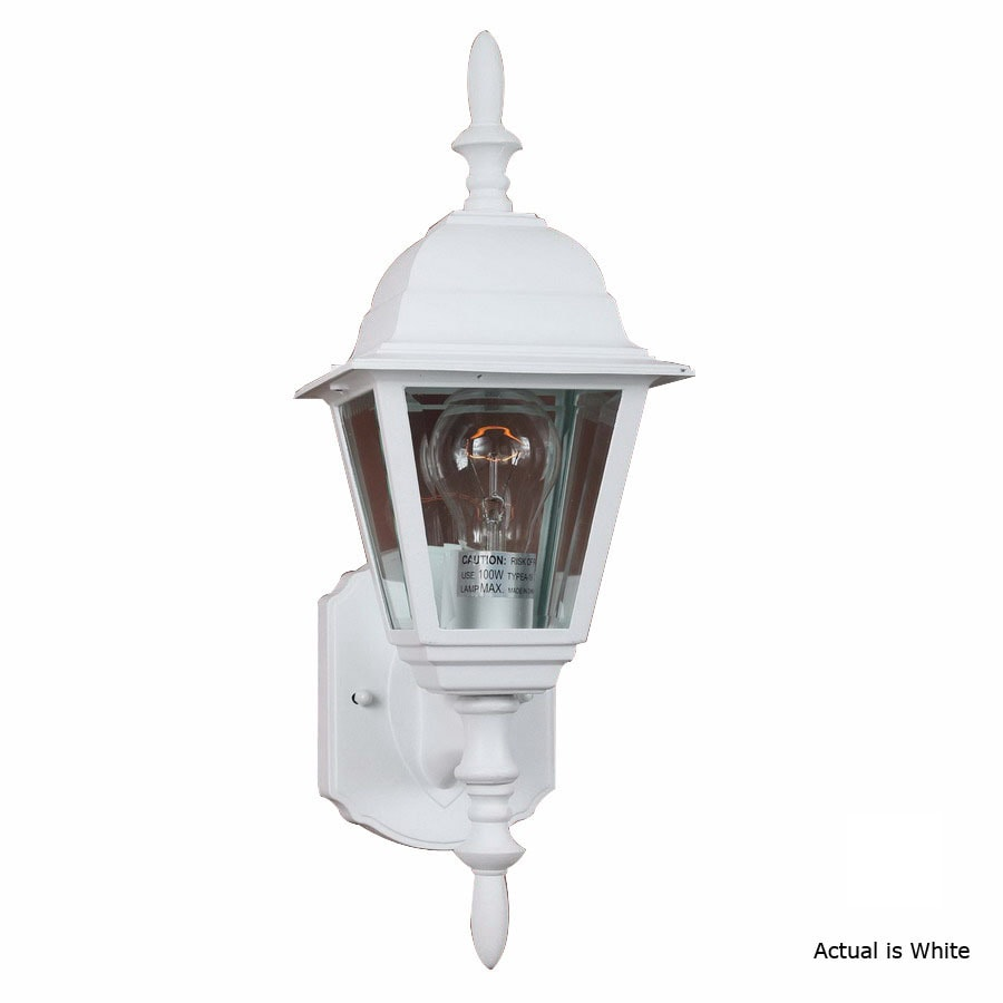 Volume International 16-1/2-in White Outdoor Wall Light