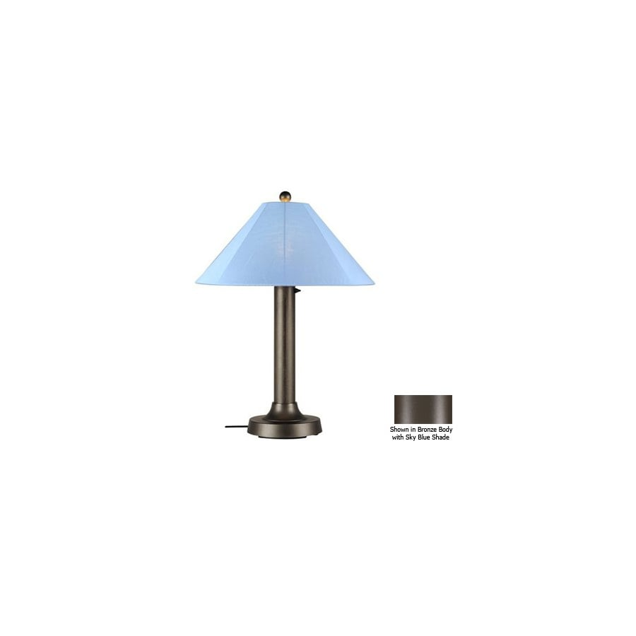 Shop Patio Living Concepts 34 In Bronze Outdoor Table Lamp With