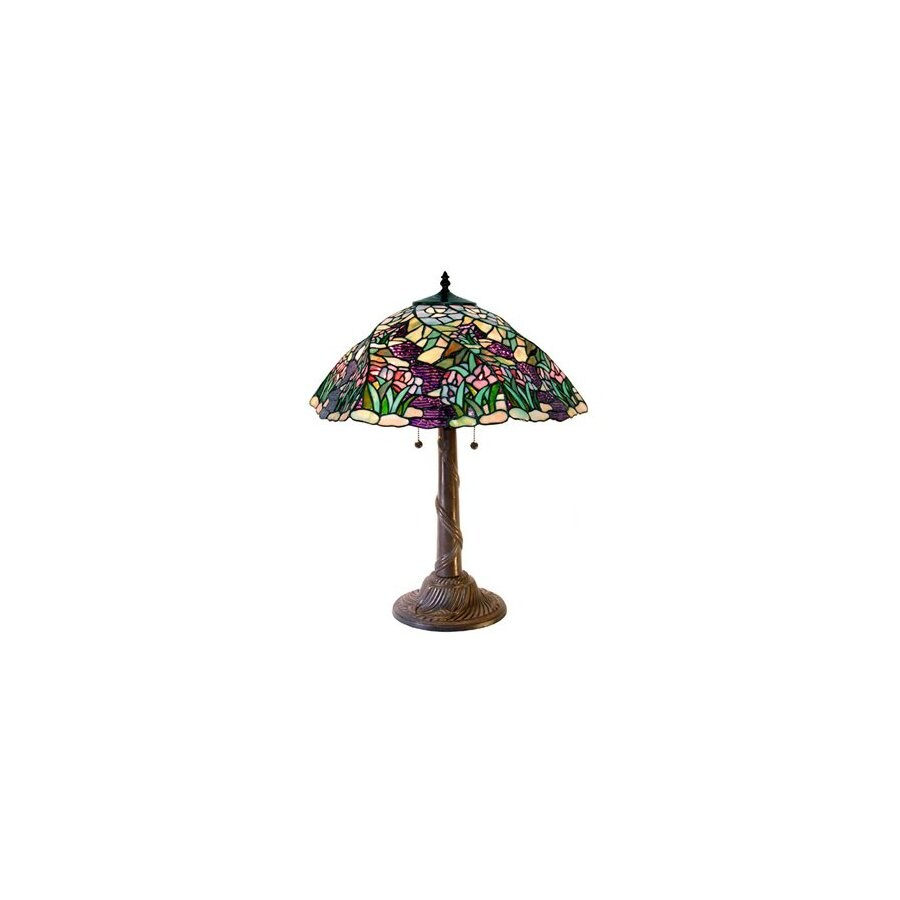 Warehouse of Tiffany 27-in Bronze Tiffany-Style Table Lamp with Glass Shade
