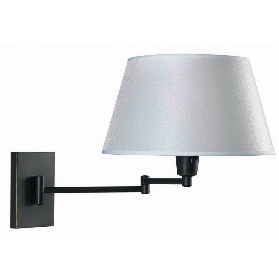 Kenroy Home Simplicity 16-in W 1-Light Oil-Rubbed Bronze Arm Wall Sconce