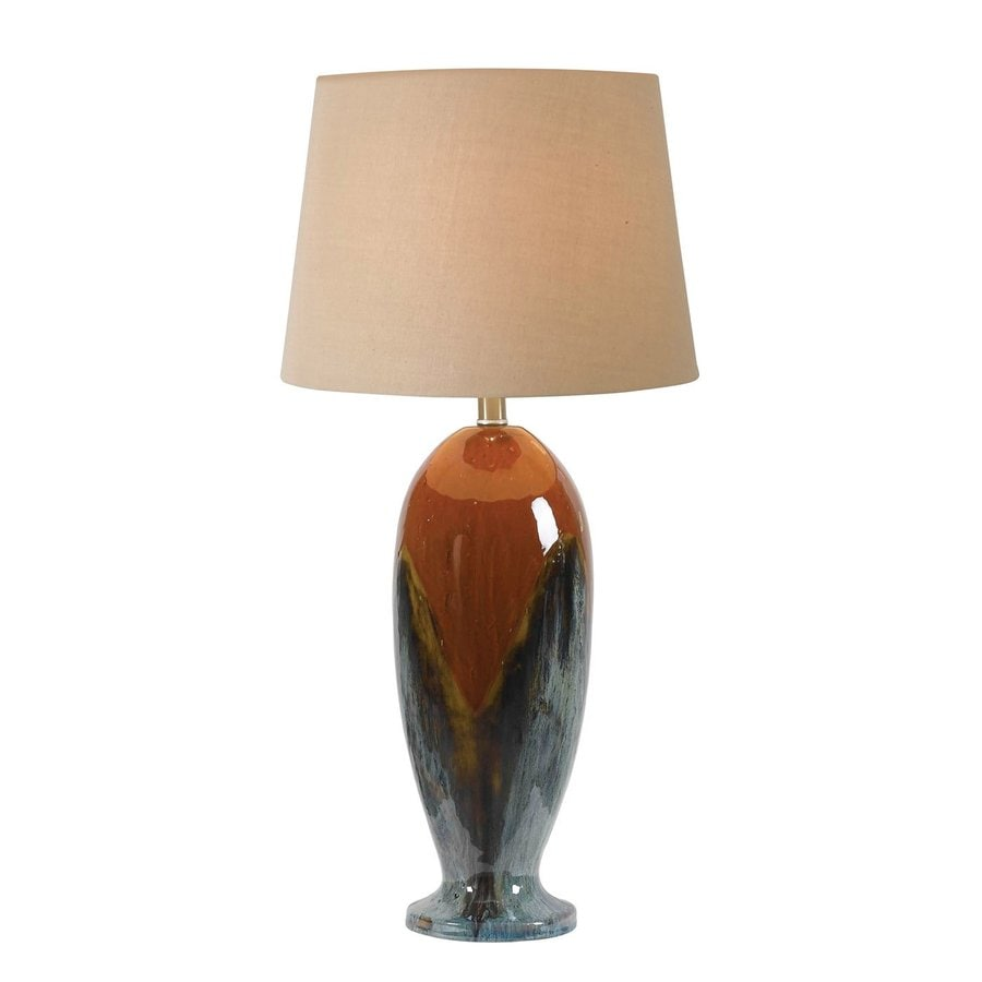 Kenroy Home Lavo 29.75-in Glazed Plug-In 3-way Table Lamp with Fabric Shade