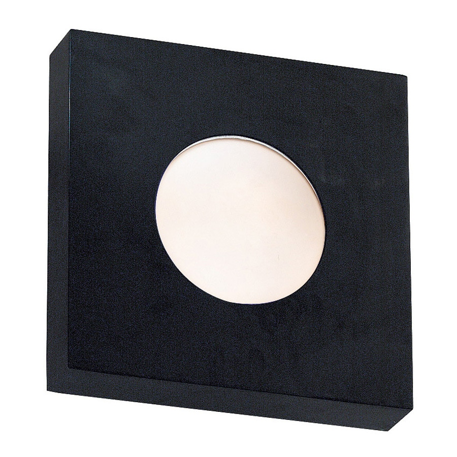 Kenroy Home Burst 10-in W 1-Light Black Pocket Wall Sconce