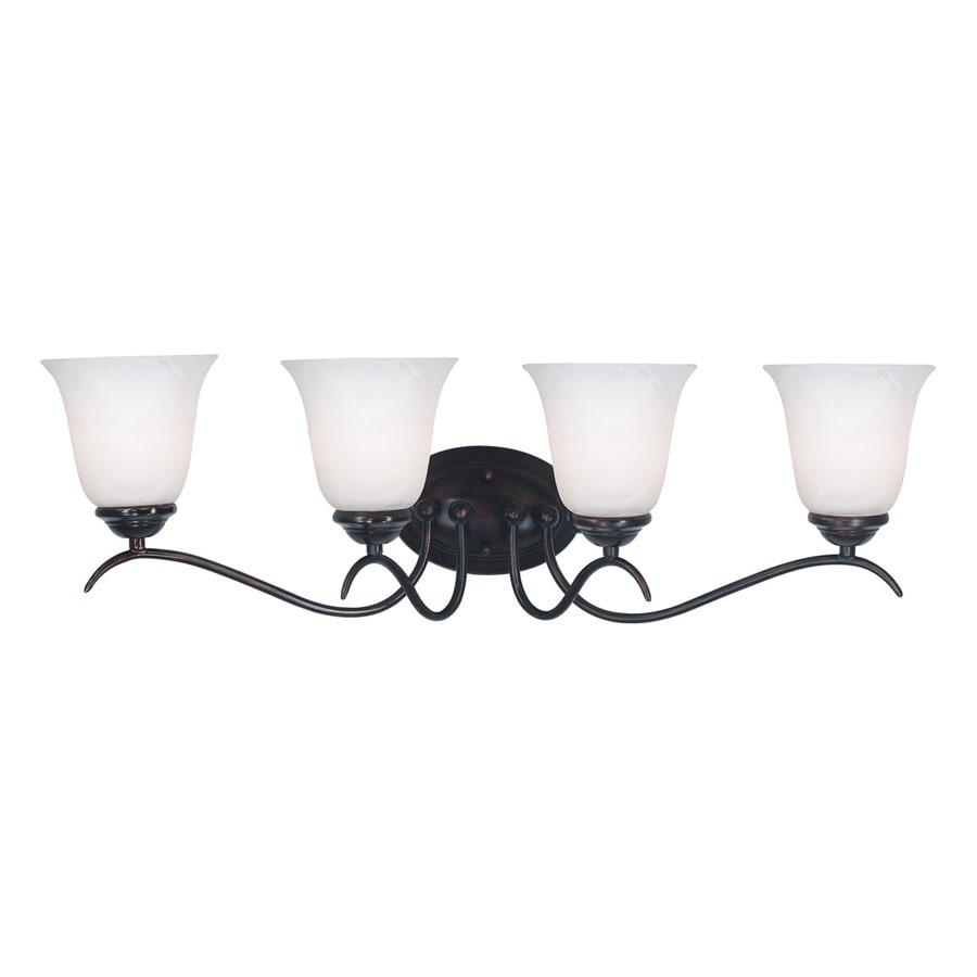 Kenroy Home 4-Light 9-in Oil-Rubbed Bronze Bell Vanity Light