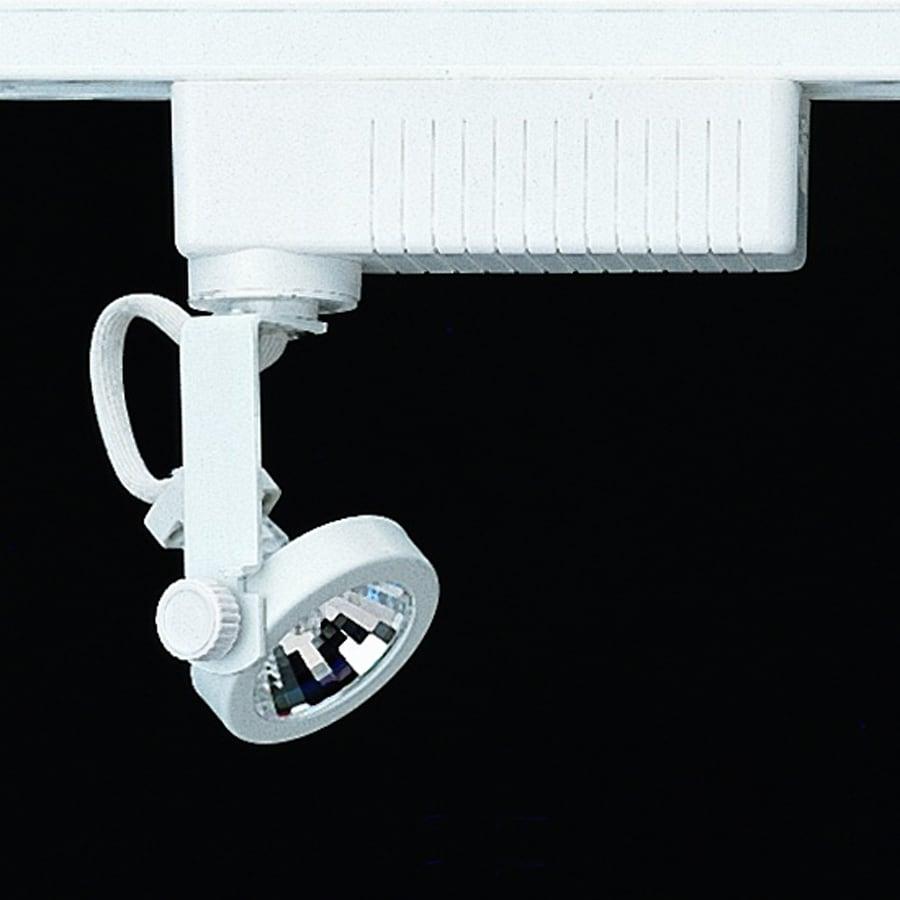 Nicor Lighting 1-Light Dimmable White Gimbal Linear Track Lighting Head