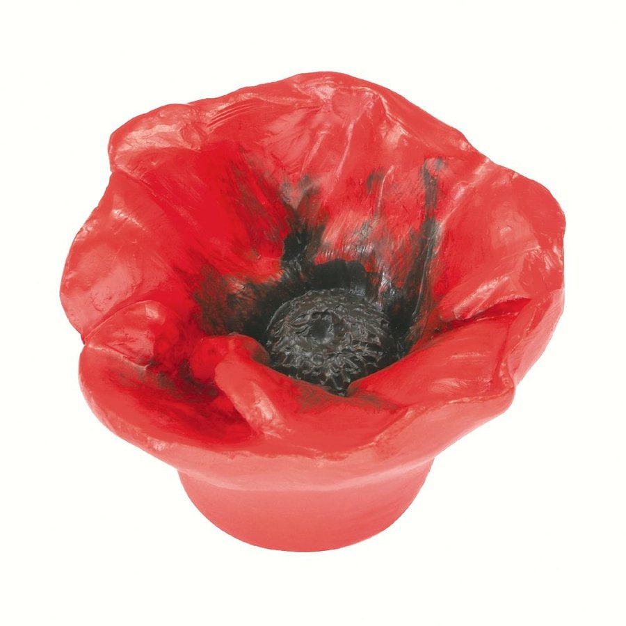 Siro Designs Flowers Red Poppy Novelty Cabinet Knob