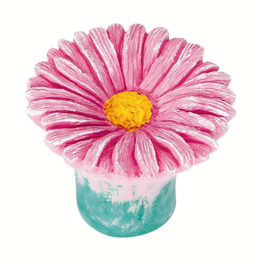 Siro Designs Flowers Pink Daisy Novelty Cabinet Knob