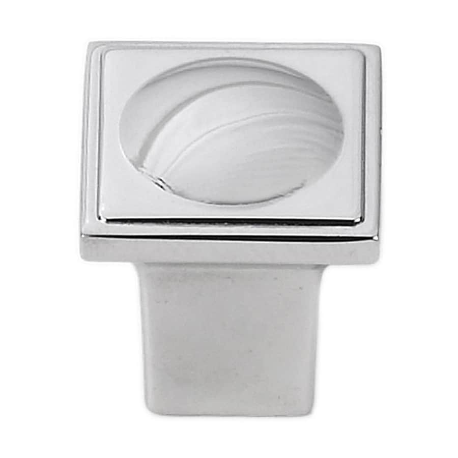 Siro Designs Vega Bright Chrome Square Cabinet Knob
