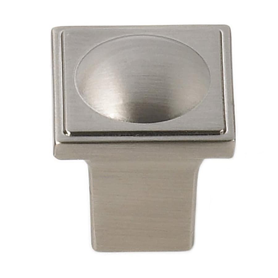 Siro Designs Vega Fine Brushed Nickel Square Cabinet Knob