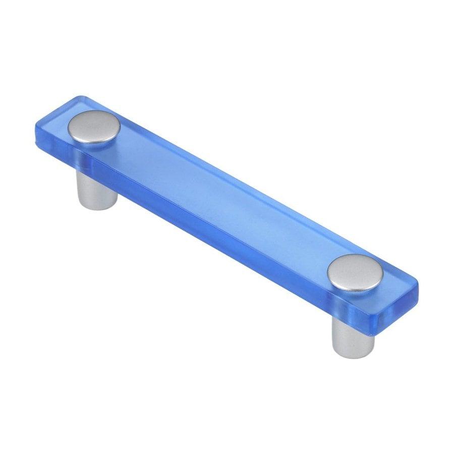 Siro Designs 3-3/4-in Center-To-Center Blue/Matte Aluminum Decco Rectangular Cabinet Pull