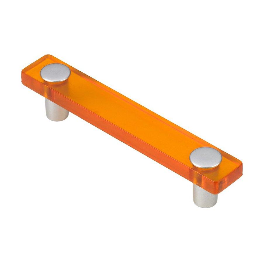 Siro Designs 3-3/4-in Center-To-Center Orange/Matte Aluminum Decco Rectangular Cabinet Pull