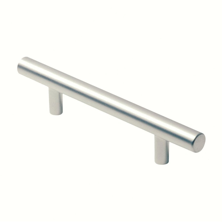 Siro Designs 3-3/4-in Center-To-Center Matte Chrome Euro Bar Cabinet Pull