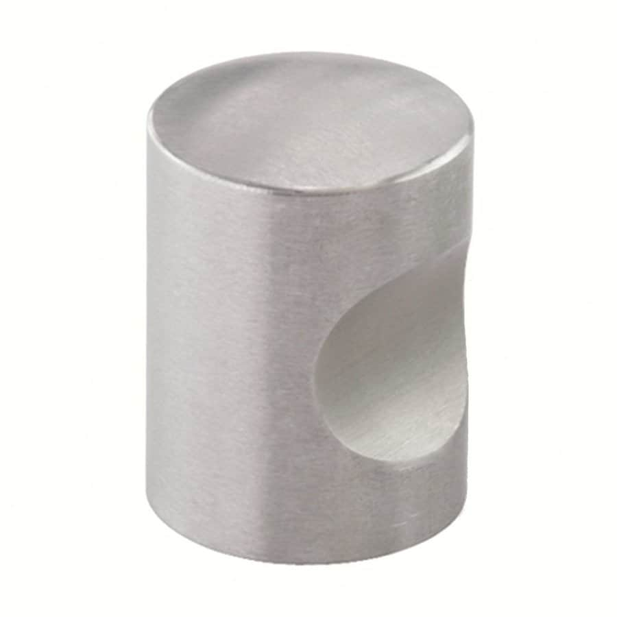 Siro Designs Stainless Steel Fine Brushed Stainless Steel Round Cabinet Knob