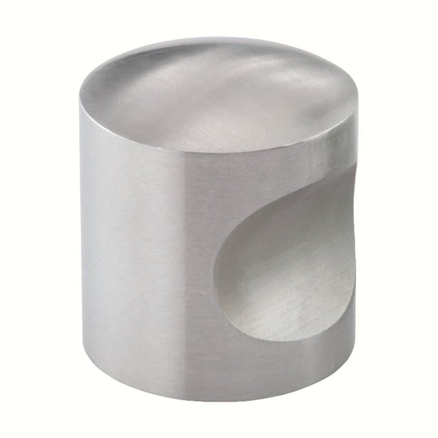 Siro Designs Fine Brushed Stainless Steel Round Cabinet Knob