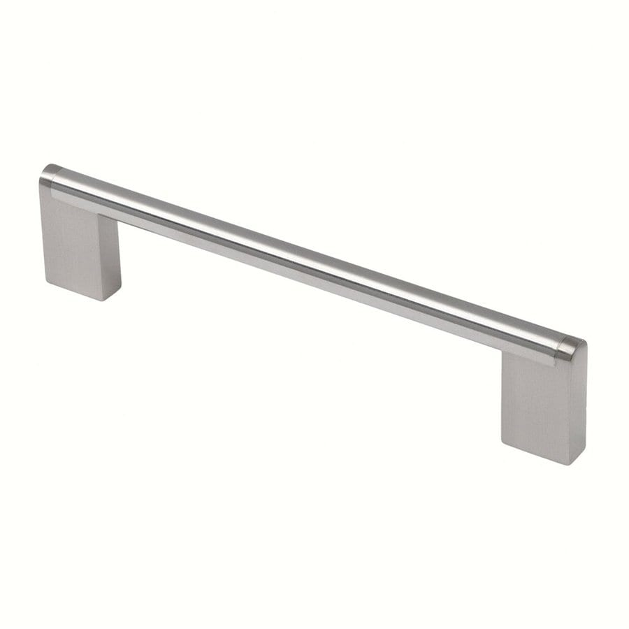 Siro Designs 160Mm Center-To-Center Fine-Brushed Stainless-Steel Rectangular Cabinet Pull