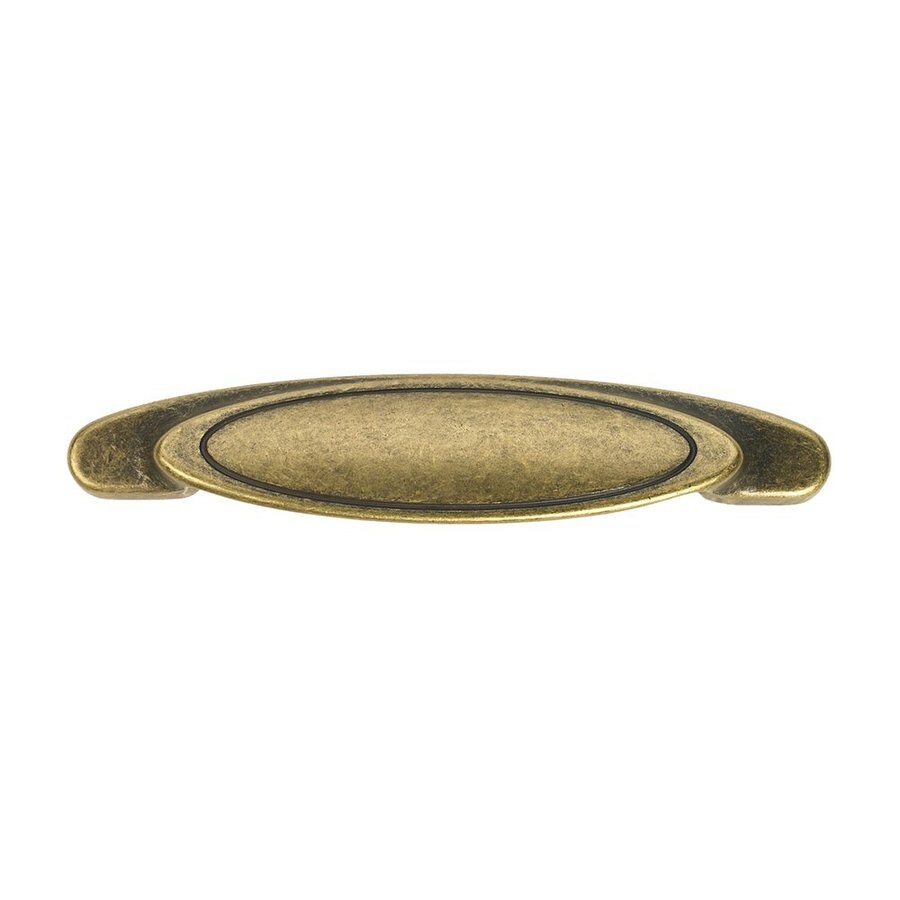 Siro Designs 3-3/4-in Center-To-Center Antique Brass Reno Arched Cabinet Pull
