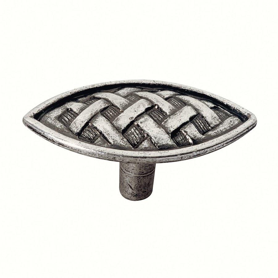 Siro Designs Ian Smith Bright Antique Silver Oval Cabinet Knob