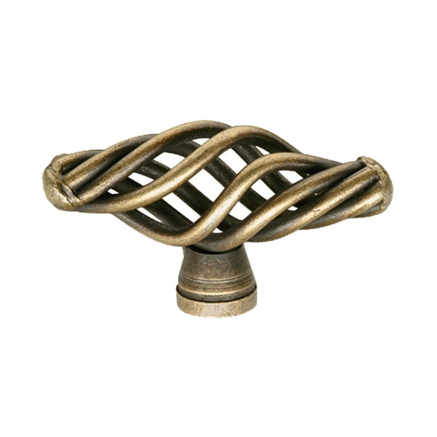 Siro Designs Provence Antique Brass Oval Cabinet Knob