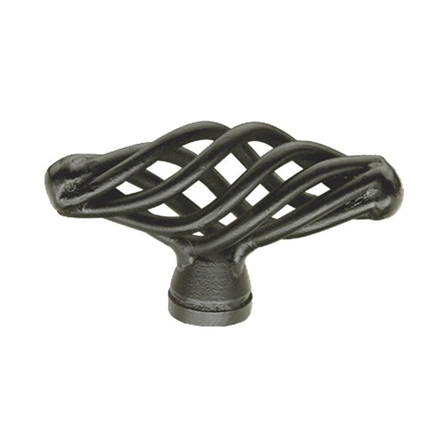 Siro Designs Provence Matte Black Oval Cabinet Knob