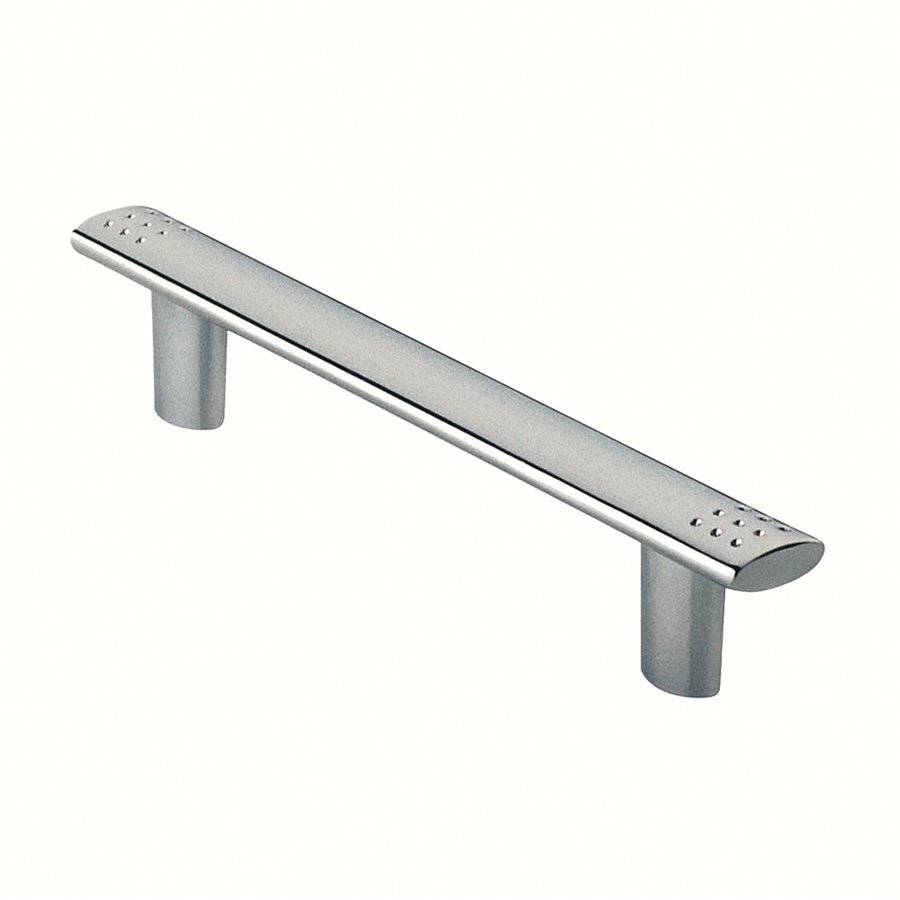 Siro Designs 3-3/4-in Center-To-Center Bright Chrome Dots and Stripes Bar Cabinet Pull