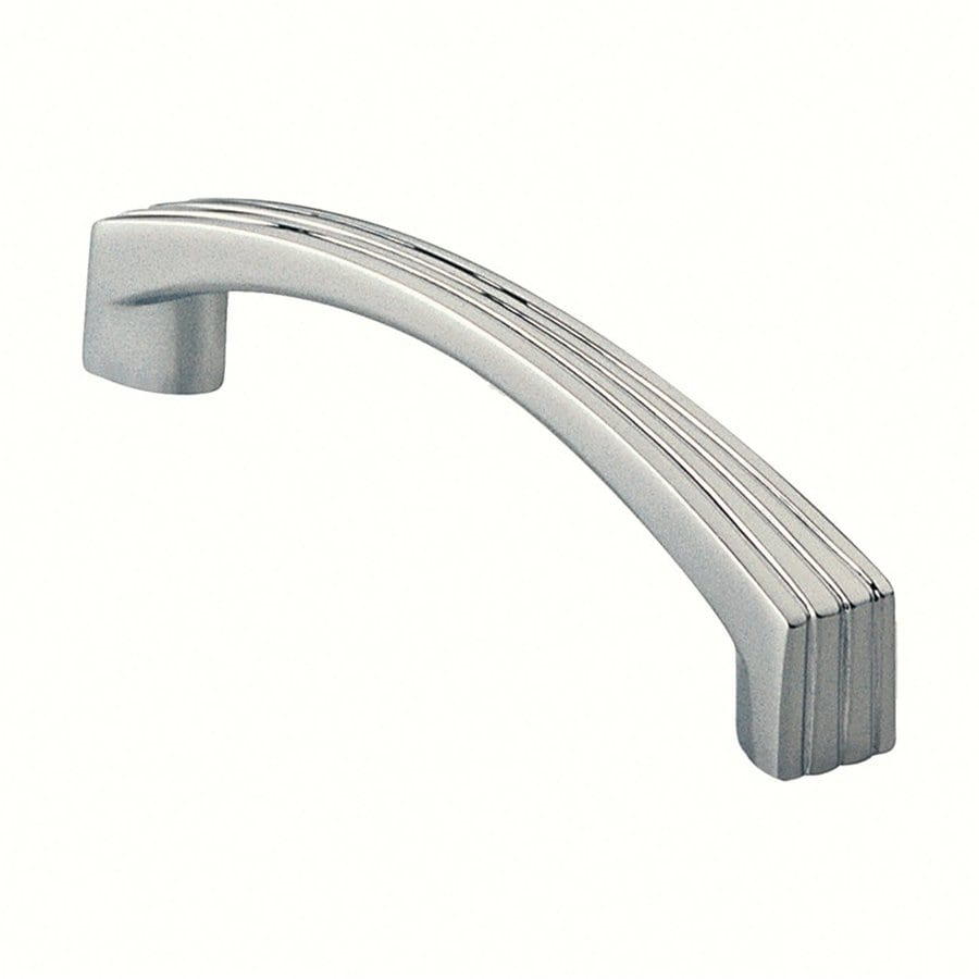 Siro Designs 3-3/4-in Center-To-Center Bright Chrome Dots and Stripes Arched Cabinet Pull