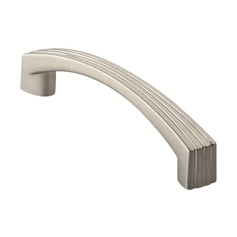 Siro Designs 3-3/4-in Center-To-Center Matte Nickel Dots and Stripes Arched Cabinet Pull