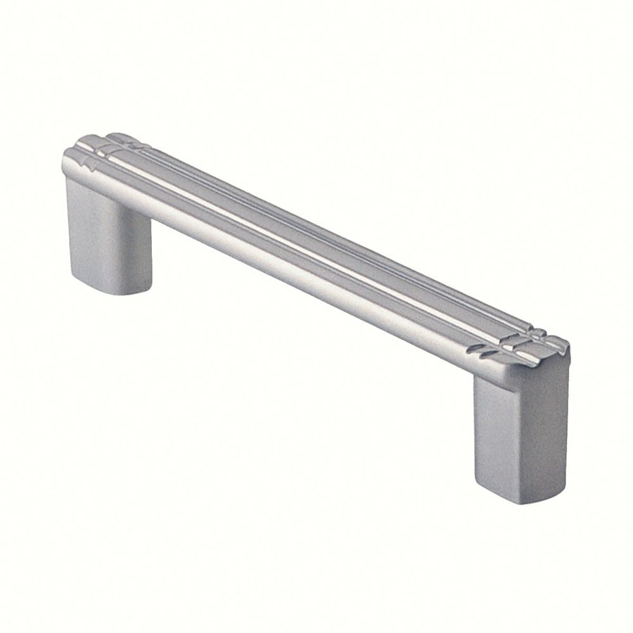 Siro Designs 3-3/4-in Center-To-Center Matte Chrome Dots and Stripes Rectangular Cabinet Pull