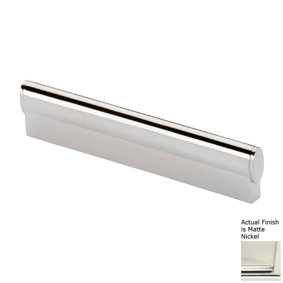 Siro Designs 3-3/4-in Center-To-Center Matte Nickel Belina Rectangular Cabinet Pull
