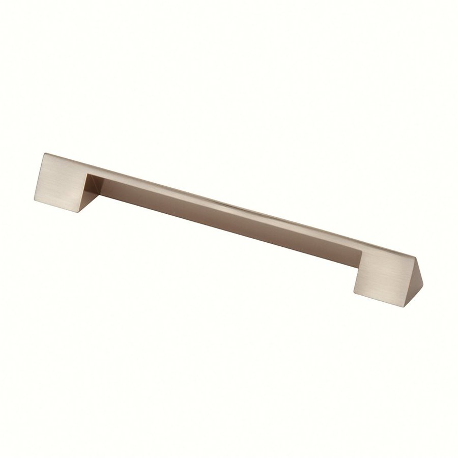 Siro Designs 160Mm Center-To-Center Fine-Brushed Nickel Belina Rectangular Cabinet Pull