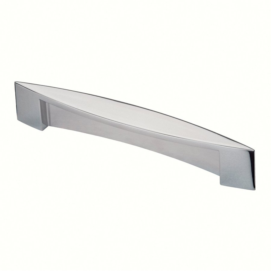 Siro Designs 5-in Center-To-Center Bright Chrome Belina Rectangular Cabinet Pull