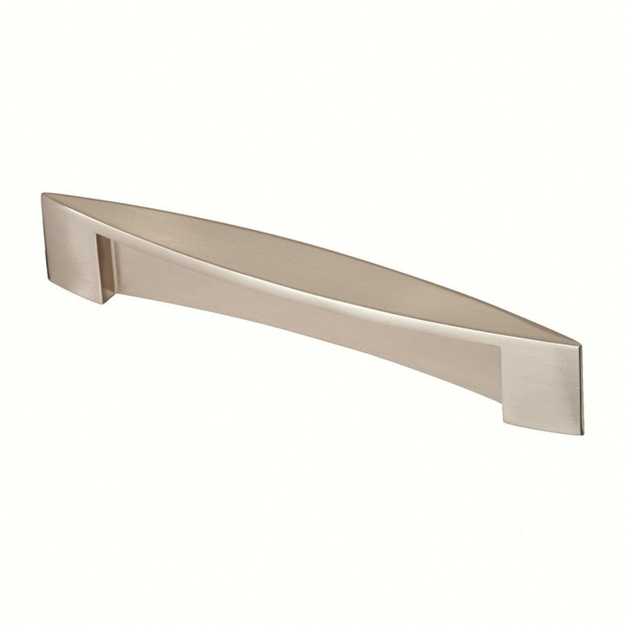 Siro Designs 5-in Center-To-Center Fine-Brushed Nickel Belina Rectangular Cabinet Pull