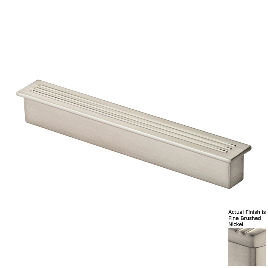 Siro Designs 3-3/4-in Center-To-Center Fine-Brushed Nickel Belina Rectangular Cabinet Pull
