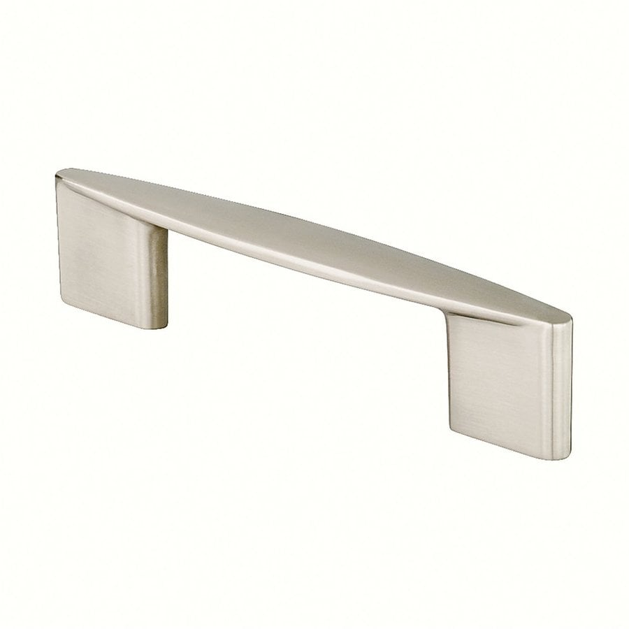Siro Designs 5-in Center-To-Center Fine-Brushed Nickel Italian Line Rectangular Cabinet Pull