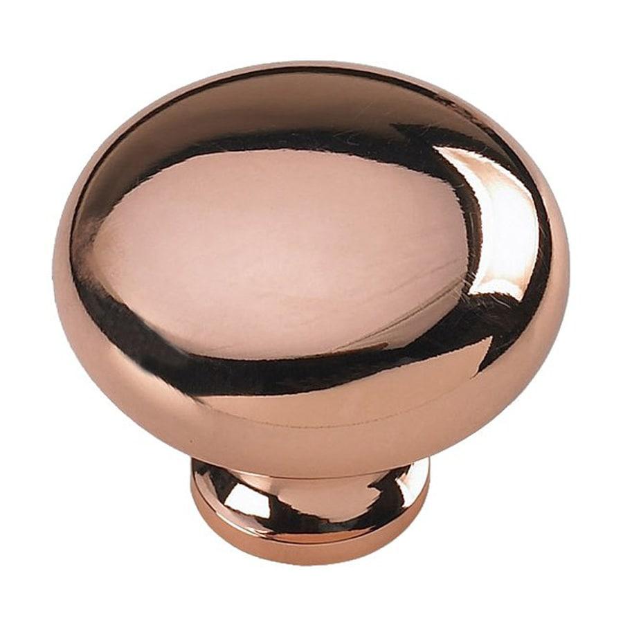 Siro Designs Pennysavers Bright Copper Round Cabinet Knob